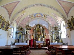 Janče - Church interior