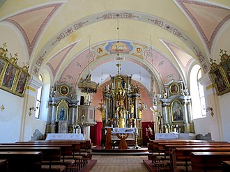 Janče - Church interior