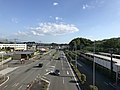 Japan National Route 3 from footbridge in front of Keyakidai Station (south).jpg