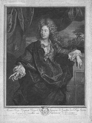 Jean-Baptiste Boyer d'Éguilles - Portrait of Jean-Baptiste Boyer d'Éguilles, engraved by Jacques Coelemans.