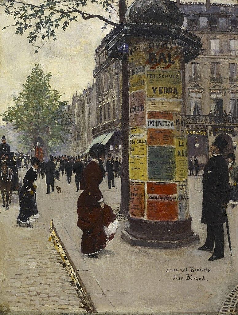 Jean Béraud, Colonne Morris (entre 1880 et 1884)