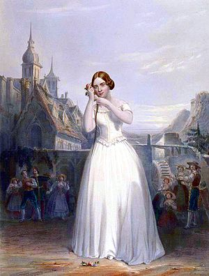 Popular music - The 19th century singer Jenny Lind depicted performing La sonnambula