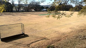 Jeppe High School for Girls - The bottom field on the lower grounds, on which the cricket pitch is situated