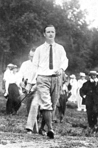 Jerome Travers - Travers playing in the 1915 U.S. Open
