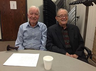 James R. Biard - Jerry Merryman (inventor of the first digital, handheld calculator) and Dr. Biard at the meeting of the TI Vets.