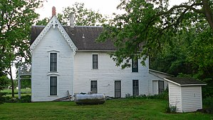 National Register of Historic Places listings in Saline County, Nebraska - Image: Jesse C. Bickle house from NE 1