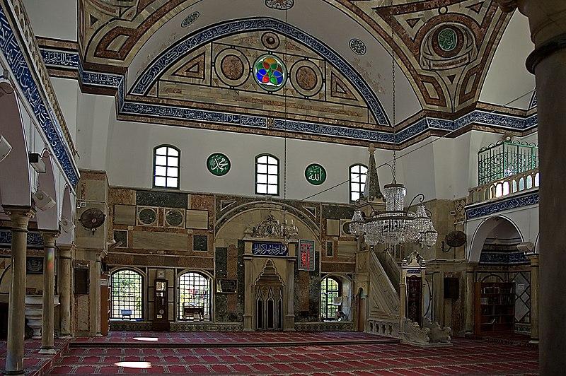 File:Jezzar Pasha Mosque Interior.jpg