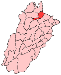 Map of Punjab with Jhelum highlighted