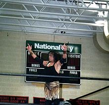 jimmy snuka performs his characteristic pose at a wrestling show in englewood new jersey 2009