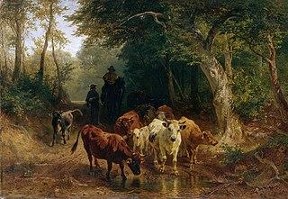 Heimkehr der Rinderherde im Herbst