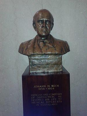 Johann Heinrich Beck - bust of Johann Beck in the Cleveland Public Library