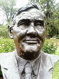 Bust of nineteenth Prime Minister of Australia...