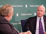 John McCain and Walter Russell Mead 22417046257.jpg