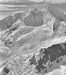 Johns Hopkins Glacier and Mt Crillon, icefall and cirque glaciers, August 16, 1961 (GLACIERS 5485).jpg