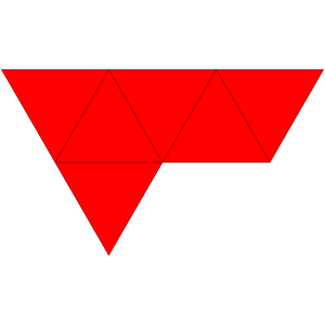 Triangular bipyramid - Net