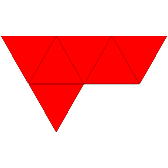 Triangular bipyramid - Net