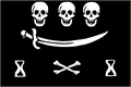 Jolly Roger pirate flag of Jean Thomas Dulaien (alternate design).png