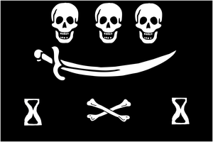 Jean Thomas Dulaien - Image: Jolly Roger pirate flag of Jean Thomas Dulaien (alternate design)