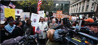 Jonathan Jackson (activist) - Jonathan Jackson outside Jon Burge indictment
