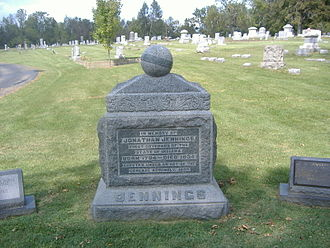 Jonathan Jennings - Burial site of Jennings in the Charlestown Cemetery.