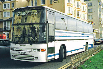 Jonckheere - A 1990 Jonckheere Deauville with Volvo chassis, operated by Scancoaches of London.