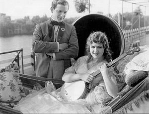 Show Boat (1929 film) - Laura La Plante and Joseph Schildkraut in a scene from the film.