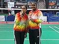 Juliette Ah-Wan and Allisen Camille, 2018 African Badminton Championships.jpg