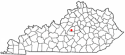 Location of Springfield, Kentucky