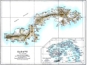Kadavu Island - Kadavu on the map of J.P.Thomson, 1889