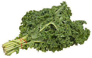A bundle of kale from an organic food co-op.