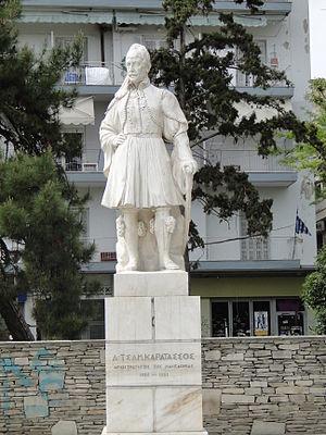Dimitrios Karatasos - Karatasos' statue in Thessaloniki.