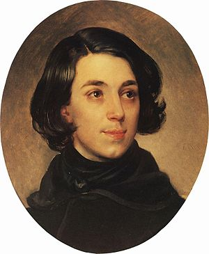 Ippolit Monighetti - Monighetti at the age of 21 (Karl Bryullov's portrait).