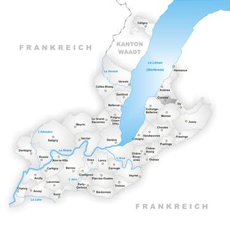 Corsier - Image: Karte Gemeinde Corsier