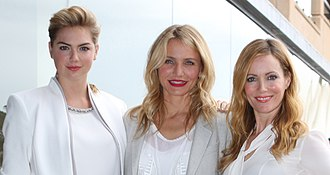 The Other Woman (2014 film) - The main female cast of The Other Woman (from left to right): Kate Upton, Cameron Diaz, and Leslie Mann.