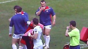 Keiron Cunningham - Keiron Cunningham warming up for St. Helens