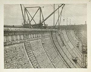 Kensico Reservoir - Kensico Dam Under Construction in 1915.