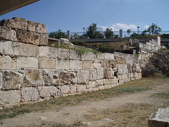 Kerameikos - Part of the Themistoclean Wall built in the 5th century BC