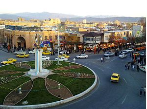 Khoy city center in iran country.jpg