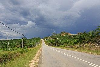 Kinabatangan District - Image: Kinabatangan Sabah Jalan Sukau 01