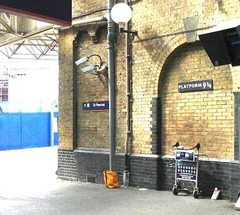 The Platform 9¾ sign occasionally causes conge...