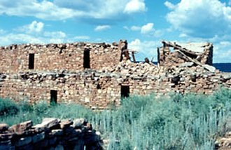 Mogollon culture - Kinishba Ruins near Fort Apache, Arizona