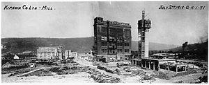 Témiscaming - Construction of Kipawa Co. Ltd. mill, 1919