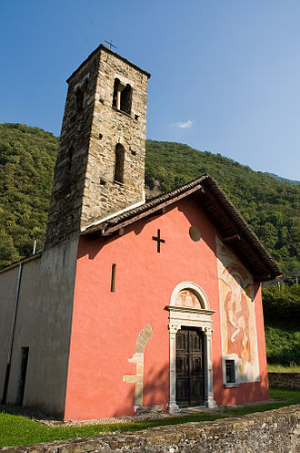 Arbedo-Castione - The church of San Paolo also known as Chiesa Rossa