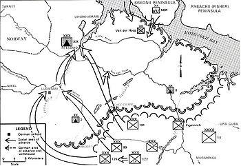 Петсамо-Киркенесская операция.  1944.