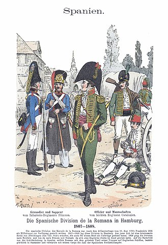 Battle of Alba de Tormes - Princesa Line Infantry Regiment (left) and Catalonia Light Infantry Regiment (right)