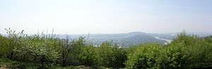 Devínska Kobyla - Panorama of Danube taken from Devinska Kobyla
