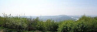 Devínska Kobyla - Panorama of Danube taken from Devinska Kobyla