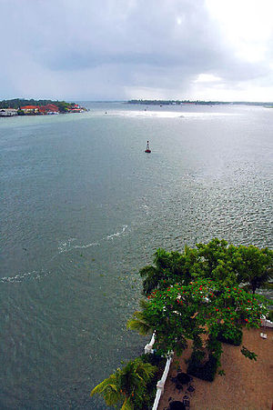 Willingdon Island - View of Cochin from Taj Malabar Hotel in Willingdon Island.