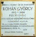 Kohán György plaque (Gyula Kerecsényi u 17).jpg