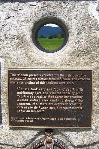 Stanley Graham - Detail of the memorial.